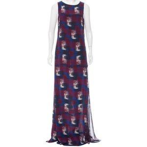 Jenni Kanye Silk Printed Maxi Dress